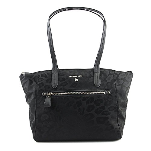 MICHAEL Michael Kors Women's Nylon Kelsey Medium Top Zip Tote, Black, One ()