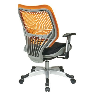 SPACE REVV Series - Self Adjusting Ice SpaceFlex Back Chair and Shadow Mesh Seat Back/Seat Type: Tang