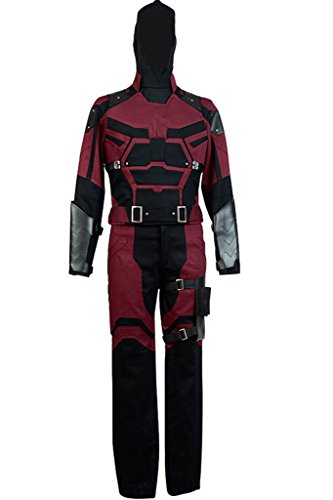 UU-Style Superhero Matt Murdock Daredevil Halloween Cosplay Costume Suit Outfit -