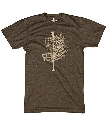 Guerrilla Tees Disc Golf Basket Tree Shirts Funny Tshirts, Large Brown