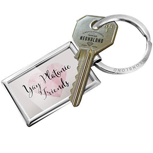 Platonic Heart (Keychain Yay Platonic Friends Valentine's Day Fancy Heart - NEONBLOND)