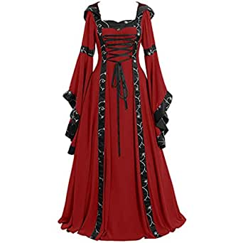 Amazon.com: Vestido medieval para mujer, estilo renacentista ...