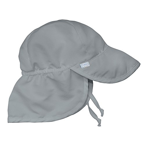 I Play Solid Sun Hat - Iplay Baby Infant Toddler Unisex Solid Color Flap Sun Hat / Beach Hat by Iplay - Gray - 9-18 Mths