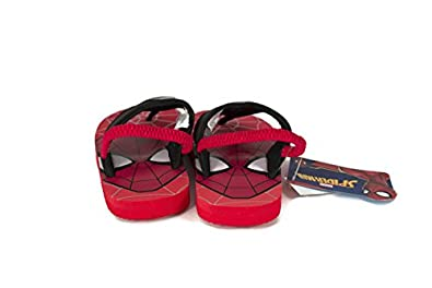 Toddler//Little Kid Favorite Characters Spiderman Flip Flop Sandals Lighted with Strap SPS167