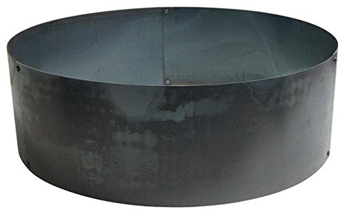 Round Steel Metal Fire Pit Ring Liner Insert 30'' X 14'' by Higley Campground Fire Pits