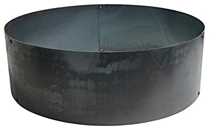 "Round Steel Metal Fire Pit Ring Liner Insert 30"" ... - Amazon.com: Round Steel Metal Fire Pit Ring Liner Insert 30"