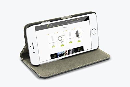 Ksix B0925FU20 Folio Standing Case für Apple iphone 6 11,2 cm (4,7 Zoll) schwarz