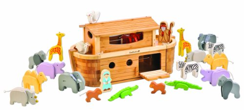 EverEarth Giant Bamboo Noah's Ark with Animals and Figures EE38065 by EverEarth
