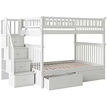 Amazon Com Columbia Staircase Bunk Bed With 2 Flat Panel
