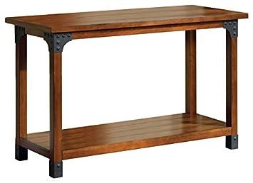 Amazon.com: Benzara Bozeman estilo Country mesa de sofá ...