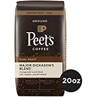 Peet's Coffee Major Dickason's Blend, Dark Roast Ground Coffee, 20 Ounce Peetnik Pack, Direct Trade Coffee