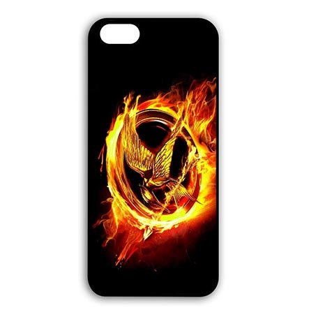 Black Snap On Cases for iPhone 6 PLUS - iPhone 6S PLUS(5.5 Inch Screen) the Hunger Games Logo - Customize New design (Wendy's Logo Costume)