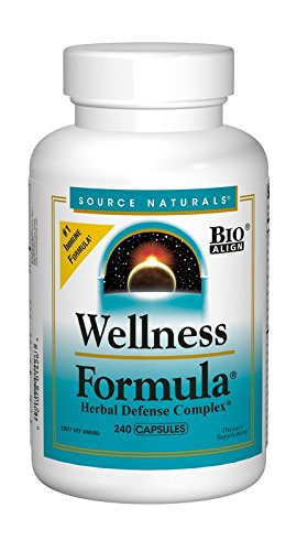 Source Naturals Wellness Formula Bio-Aligned Vitamin Herbal Defense Complex Immune System Support & Immunity Booster Wholefood Multivitamin - 240 Capsules