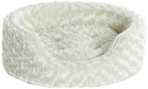 NAP Pet Bed Small Ultra Plush Oval Pet Bed, Light Khaki, My Pet Supplies