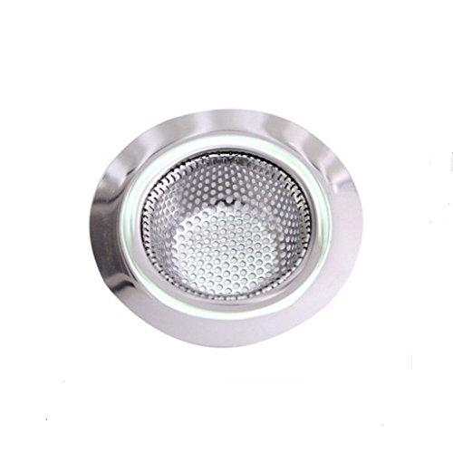 - Wild Tribe Stainless Steel Sink Drain Filter Strainer Tub Bathroom Hair Catcher, Large Wide Rim 3.5