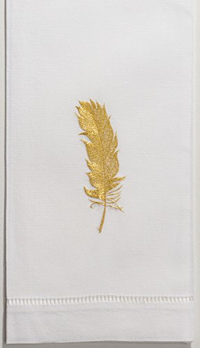 - Henry Handwork Feather Gold Hand Towel
