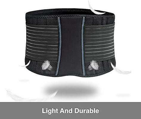 BraceUP Stabilizing Lumbar Lower Back Brace Support Belt Dual Adjustable Straps Breathable Mesh Panels (S/M)