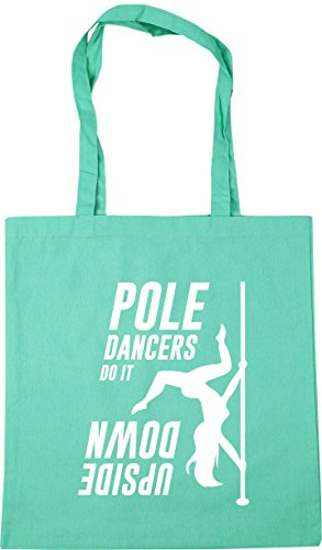Shopping 42cm Pole Gym Down HippoWarehouse Upside Beach Dancers It x38cm Bag 10 Mint litres Tote Do qX08nrPd8