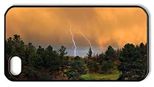 Hipster iPhone 4S carrying case thunderstorm PC Black for Apple iPhone 4/4S