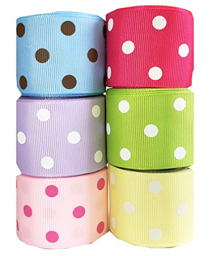 """Hipgirl 1.5"""" Grosgrain Fabric Ribbon Set For Gift Package Wr"""