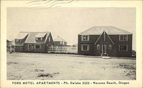 York Motel Apartments, Wacoma Beach Lincoln City, Oregon Original Vintage - Beach Lincoln