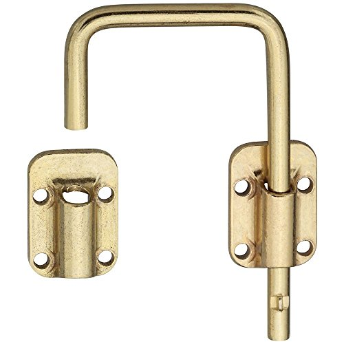 National Hardware N239-004 V800 Sliding Door Latch in Brass (Hook And Eye Latch Brass)