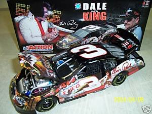 Dale Earnhardt Collectible Cars (Dale Earnhardt Sr #3 Monte Carlo Dale & The King Elvis Presley Taking Care of Business 1/24 Scale Diecast Action Racing Collectables Hood, Trunk, Roof Flaps Open Limited Production)