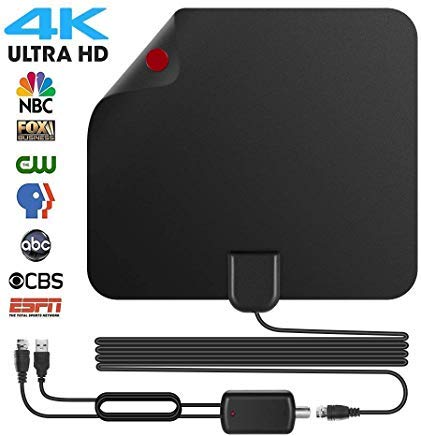 TV Antenna HD Digital TV Antenna 150 Miles Long Range Indoor Digital HDTV Antenna with Amplifier Signal Booster - Support 4K 1080P/HD VHF UHF ()