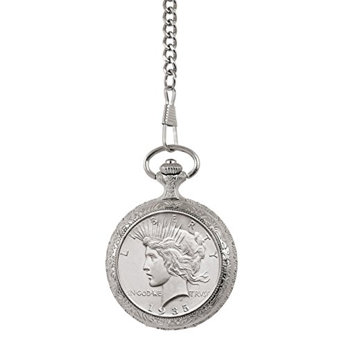 Brilliant Uncirculated Peace Silver Dollar Pocket Watch