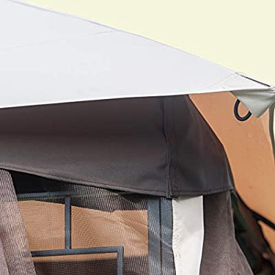 Sunjoy 110109032 Original Replacement Canopy for Royale Gazebo (10X12 Ft) L-GZ798PST-J Sold at OSJ, Beige : Garden & Outdoor