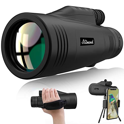 Monocular Telescope,16x55 Monocular Dual Focus Optics Zoom Telescope, Day & Low Night Vision- with Hand Strap-Waterproof Monocular with Durable and Clear FMC BAK4 Prism Dual Focus for Bird Watching,