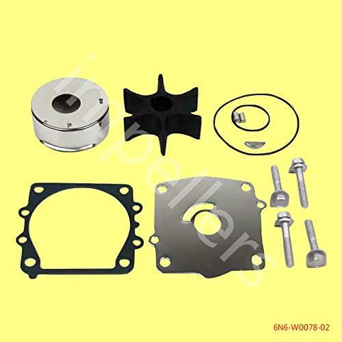 6N6-W0078-02 Water Pump Impeller Repair Kit For Yamaha