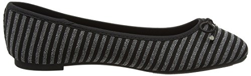 New Look Women's Kalum Closed Toe Ballet Flats Black (Black Pattern 9) Lch42SbUH