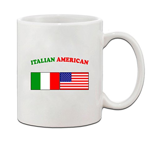 Italian American Flag Country Ceramic Coffee Tea Mug Cup 11 oz