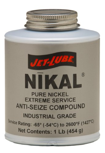 Jet-Lube Pure Nickel Extreme Anti-Seize and Thread Lubricant, 1/4 lbs Brush Top Can