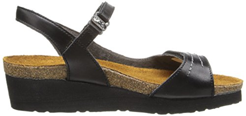 Naot Womens Madison Leather Sandals Black Madras