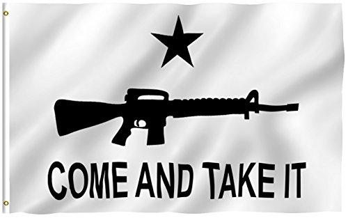 3x5 Dont Tread on Me Second Amendment NRA M4 Rifle Flag Protest Banner Gun