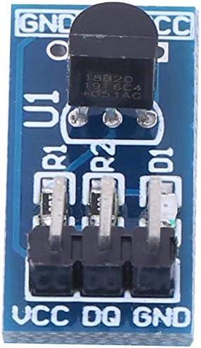 con Led Indicador de Encendido M/ódulo Sensor de Temperatura DS18B20 Alta Precisi/ón Movilideas