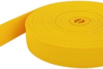 gelb 15mm breit 1,4mm stark 50m PP Gurtband UV