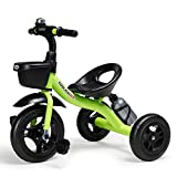 COOL-Series Kids Trike Toddlers Children Tricycle Stroller Trike 3 Wheel Pedal Bike Multicolor for 2 3 4 5 Years Old Boys Girls Indoor & Outdoor with Storage Bin and Cup Holder (Light Green)