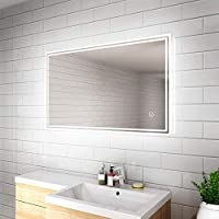 ELEGANT Heated Backlit LED Illuminated Bathroom Mirror with Lights and Demister and Sensor IP44 Rated