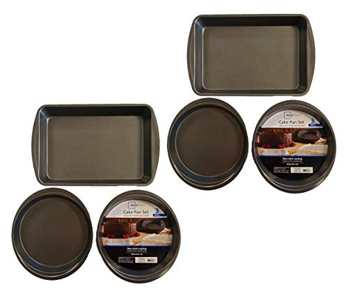 Set of 6 Mainstays Non-Stick Cake Pan