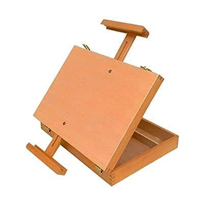 H.ZHOU Easel Desktop Sketch Painting Oil Painting Box Wooden Storage Painting Box Versatile Use