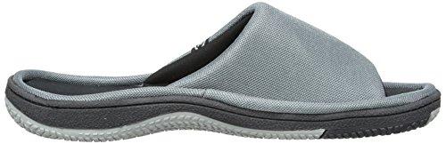 Isotoner Mens Mesh Glid Sandal Träkol