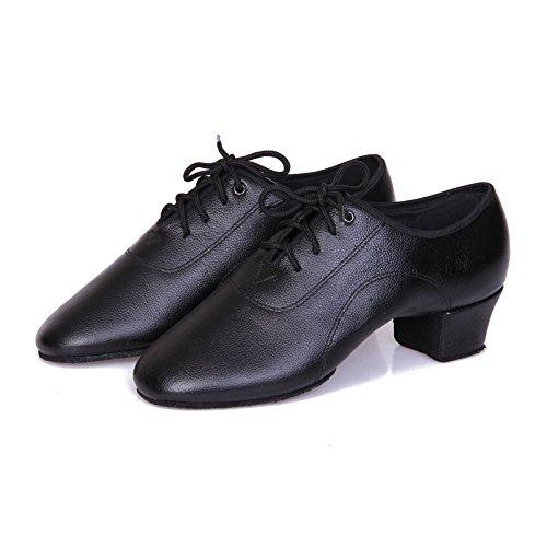 SQIAO-X- Scarpe da ballo Kraft è un maschio adulto nero danza latino danza sociale Square Dance e danza moderna Professional scarpe da ballo, nero,34