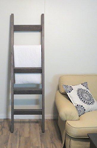 6 ft Blanket Ladder, Rustic Pine Wood Blanket Ladder, 72 x 20 Solid Wood Blanket Ladder, Rustic Warm Home Decor