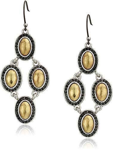 Lucky Brand Women's Pave Gem Chandelier Earrings, Two Tone, One Size