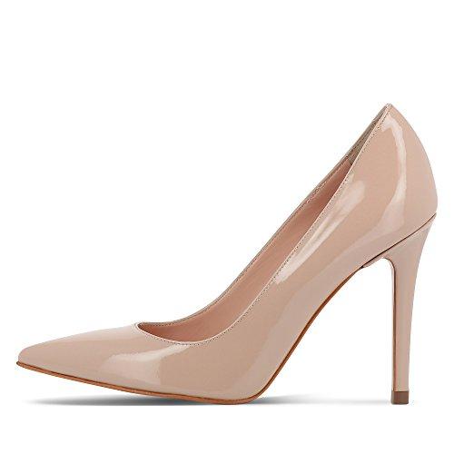 Piel Rosa Shoes de para mujer vestir Evita Zapatos carne de FBqwCq