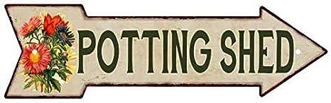 Amazon.com: Chico Creek Signs Potting Shed Metal Sign 5x17 ...