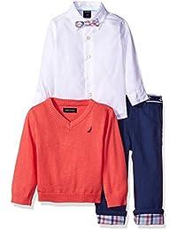 Baby Boys' 3 Piece Printed Sweater Set